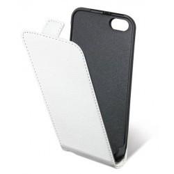 Etui blanc cuir pour iPhone 5