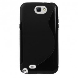 Coque noire silicone pour Samsung Galaxy Note 2
