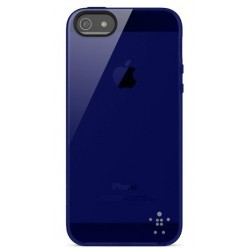 Coque protection iPhone 5 BELKIN bleu nuit indigo