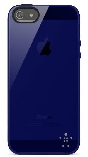 Coque protection iPhone 5 BELKIN bleu nuit indigo
