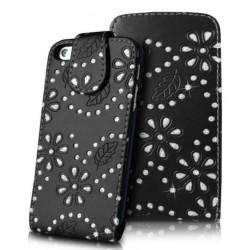 Etui strass couleur noir pour le iPhone 5