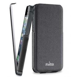 Housse luxe ultra-fine Puro cuir noir pour iPhone 5