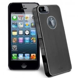 Coque protection rigide renforcée Puro couleur noire pour iPhone 5