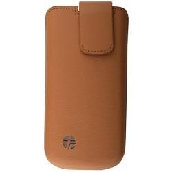 Housse camel cuir Trexta pour iPhone 5