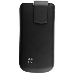 Housse noire cuir Trexta pour iPhone 5
