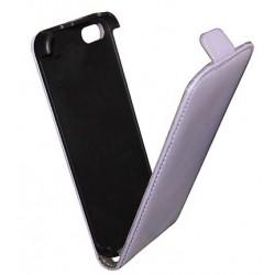 Etui cuir mauve/parme pour iPhone 5