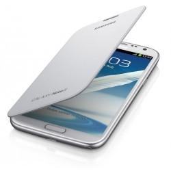 Étui à rabat blanc d'origine Samsung Galaxy Note 2