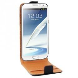 Housse luxe cuir noir Samsung Galaxy Note 2