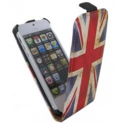 Etui à rabat drapeau Angleterre vintage pour iPhone 5