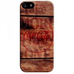 Coque officielle Coca-Cola pour iPhone 5 motif : bois