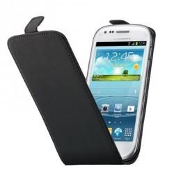 Etui cuir noir à rabat pour Samsung Galaxy S3 mini