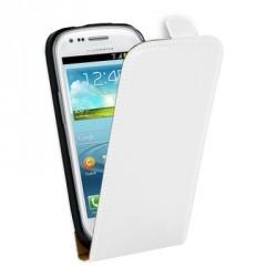 Housse cuir blanche pour Samsung Galaxy S3 mini
