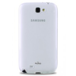 Coque PURO blanche transparente pour Samsung Galaxy Note 2