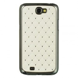 Coque strass blanche pour Samsung Galaxy Note 2