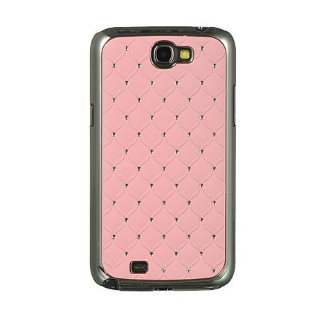 Coque strass couleur rose Samsung Galaxy Note 2