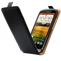 Etui cuir noir HTC Desire X - housse protection.
