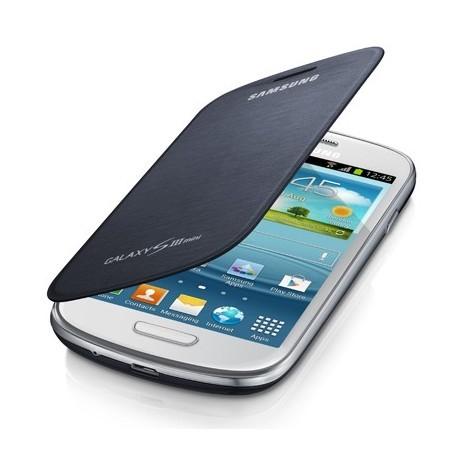 Etui à rabat origine Samsung Galaxy S3 mini I8190 bleu nuit