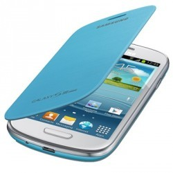 Etui origine intégrable bleu turquoise pour Samsung Galaxy S3 mini