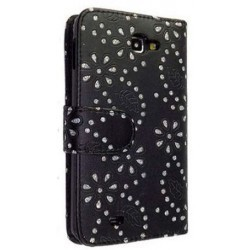 Etui noir strass diamants pour Samsung Galaxy Note 2