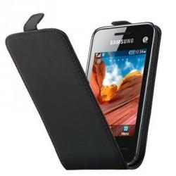 Etui cuir luxe noir pour le Samsung Star 3 S5220