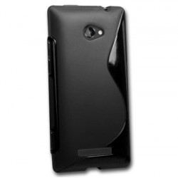 Coque silicone noire pour HTC Windows 8S
