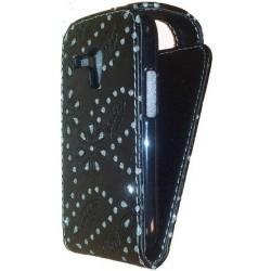 Etui strass noir Samsung Galaxy S3 mini (Galaxy SIII mini)