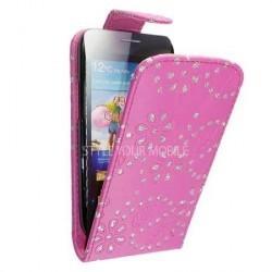 Housse rose avec strass pour Samsung Galaxy S3 mini
