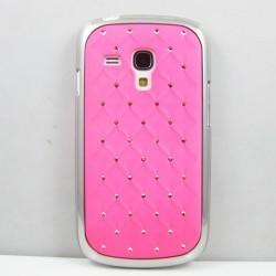Coque strass rose pour Samsung Galaxy S3 mini