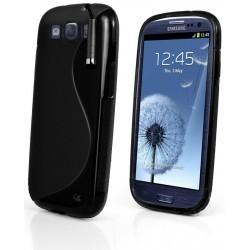 Coque noire silicone pour Samsung Galaxy S3 mini