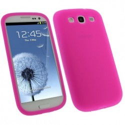 Coque rose Samsung Galaxy S3 mini - silicone