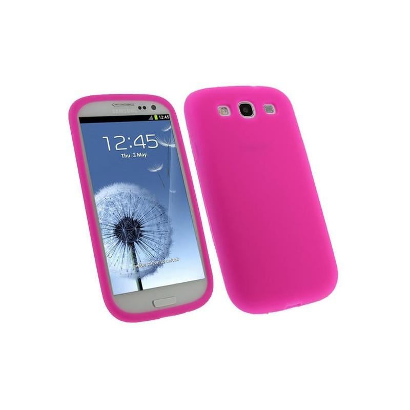 Coque rose Samsung Galaxy S3 mini - silicone