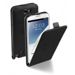 Etui à rabat MOXIE luxe noir pour Samsung Galaxy Note 2