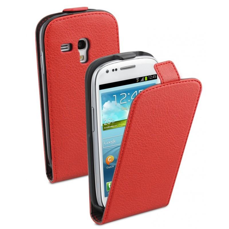 Etui à rabat rouge pour Samsung Galaxy S3 mini