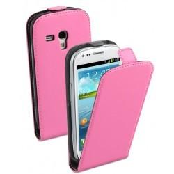 Housse rose à rabat pour Samsung Galaxy S3 mini
