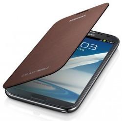 Etui marron intégrable origine pour Samsung Galaxy Note 2