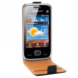 Housse luxe cuir noir pour Samsung Player Mini 2 C3310