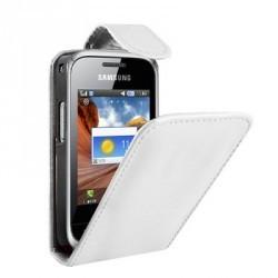 Housse blanche cuir lisse pour Samsung Player mini 2 C3310