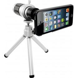 Coque et Trépied avec Téléobjectif Zoom 12X pour iPhone 5