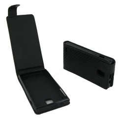 Housse noire pour Huawei Ascend P1