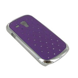 Coque strass diamants violet mauve pour Samsung Galaxy S3 mini