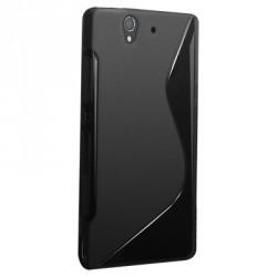 Coque en silicone noire pour Sony Xperia Z