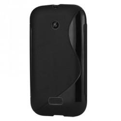 Coque de protection en silicone noire pour Nokia Lumia 510