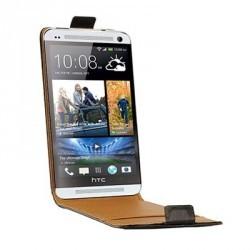 Housse noire luxe cuir pour HTC One