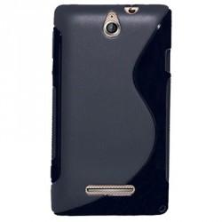 Coque de protection en silicone noire pour Sony Xperia E