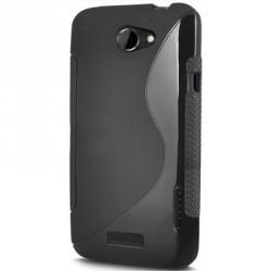 Coque couleur noire pour le HTC One en gel silicone