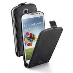 Housse noire Cellular Line à rabat Essential pour Galaxy S4