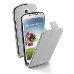 Housse blanche Cellular Line Essential à rabat pour Galaxy S4