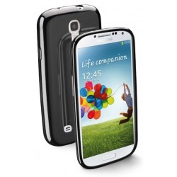 Coque souple noir Cellular Line pare choc pour le Samsung Galaxy S4