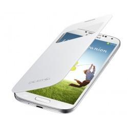 Etui S-View blanc avec fenêtre d'origine pour Samsung Galaxy S4
