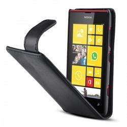 Housse à rabat noire pour Nokia Lumia 520